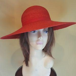 DERBY CHURCH TEA RED FLOPPY VTG HAT